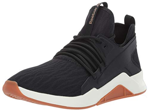 Reebok Women's GURESU 2.0, Black/Chalk/Gum/Rose Gold, 9 M US