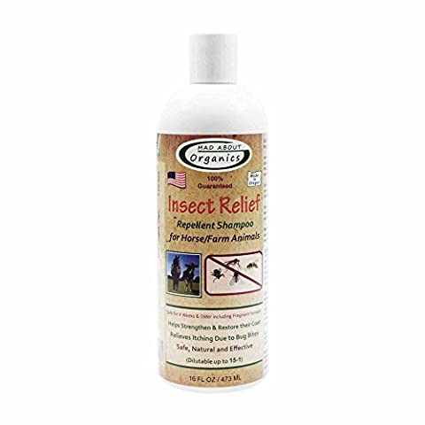 Mad About Organics All Natural Horse / Farm Animal Insect Relief Shampoo 16oz