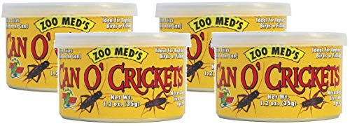 (Zoo Med Laboratories 4 Pack Can O Crickets Pet Food, 1.2 Ounces Per Can)