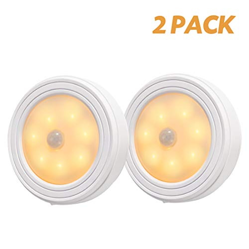 Motion Sensor Light,2 Pack led Closet Light, Battery Powered LED Stair Lights Used for Cabinet, Hallway, Entrance, Ceiling, Basement, Bathroom and Other Occasions Only Need a Small Range of Lighting