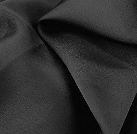 Black Material Dress Fabric Best Quality Satin Crepe Triacetate Fabric Flowy Material Black Satin Crepe Black Fabric