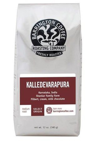 India Kalledevarapura, Barrington Coffee 12 oz bag, Single Origin Whole Bean Coffee