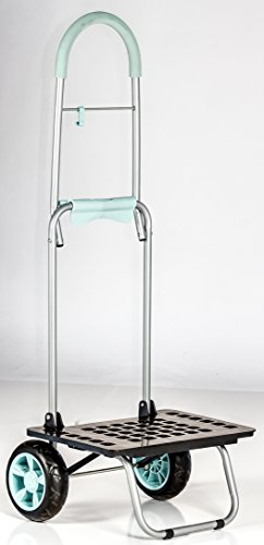 dbest products Bigger Mighty Max Personal Dolly, Light Blue Handtruck Cart Hardware Garden Utilty