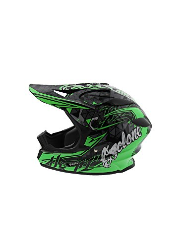 Cyclone ATV MX Dirt Bike Off-Road Helmet DOT/ECE Approved - Green - X-Large - Motocross Gear Closeouts