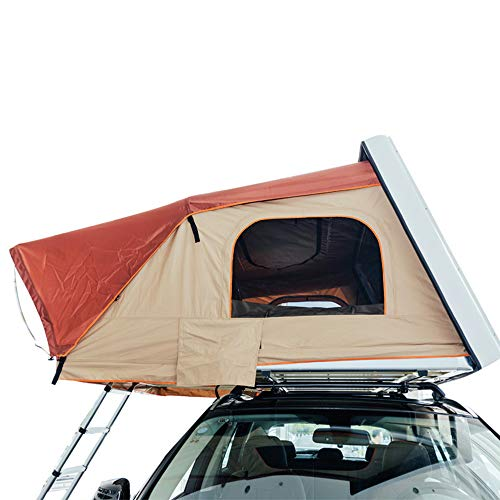 CARWORD Rooftop Tent,Hydraulic Boost Pop Up Car Roof Tent Pop Up Camping Outdoor for Traveling Touring Weekend Adventurer Jeep Vehicle Truck