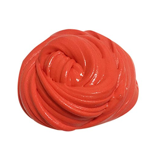 Womail Magic Fluffy Bubble Clay Soft Slime Mud Toy, Best gift for Children. (Red)