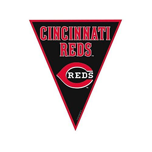 Amscan Timeless Cincinnati Reds Major League Baseball Pennant Banner, 12', Black/Red