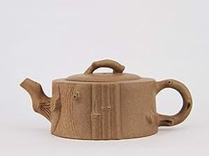 """Bamboo"" Chinese Yixing Clay Handmade Zisha Teapot Duan Ni Bamboo Shape Tea Pot 260cc"