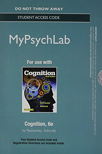 NEW MyPsychLab without Pearson eText -- Access Card -- for Cognition (6th Edition)