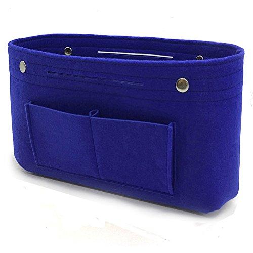 VANCORE Bag in Bag Organizadores de Bolso de Mano, Insertar Bolso Organizador Bolso en Bolso, Rosa - Grande azul oscuro