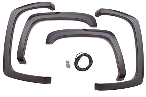 Lund SX103T Elite Series Black Sport Style Textured Front and Rear Fender Flare - 4 Piece ()