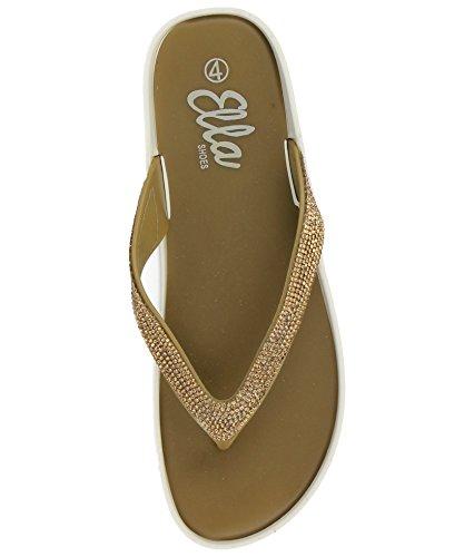 Sandales Vert Femme Olive pour Ella O6wpdq0FO