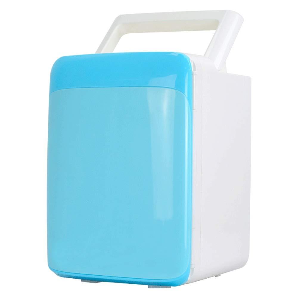 HKJhk Small Refrigerator Car Refrigerator Mini Refrigerator 10L Heating and Cooling Box Portable Car Gift (Color : Blue)