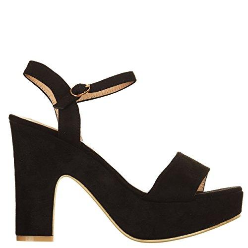 Refresh Ref-63602cmne_38 - Sandalias de vestir para mujer negro negro 38