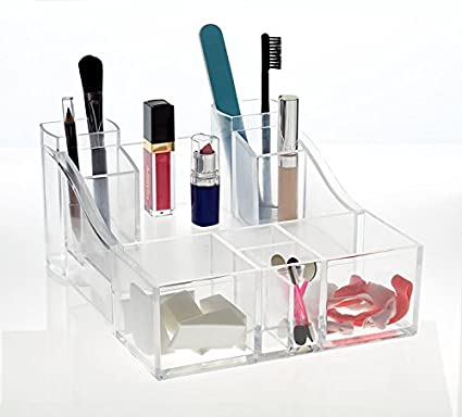 Amazoncom Groovi Beauty Acrylic Cosmetic Make Up Containercompact