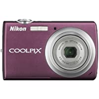 Nikon Coolpix S220 10MP Digital Camera with 3x Optical Zoom and 2.5 inch LCD (Plum) At A Glance Review Image