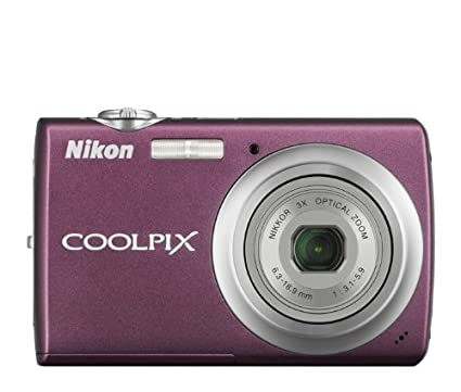 Nikon Coolpix S220 10MP Digital Camera with 3x Optical Zoom and 2. 5 inch LCD (Plum) Point & Shoot Digital Cameras at amazon