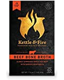 Beef Bone Broth by Kettle & Fire - 100% Grass-fed, Organic, Collagen-rich Beef Bone Broth, 17.6 Ounce, 1-Pack