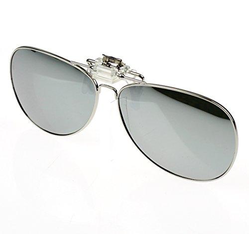 Jaky Polarized Metal Clip-on Flip up Clip Sunglasses Lens Glasses Driving Fishing Outdoor Sport Mirror Blue Uv - On Sunglasses Aviator Clip