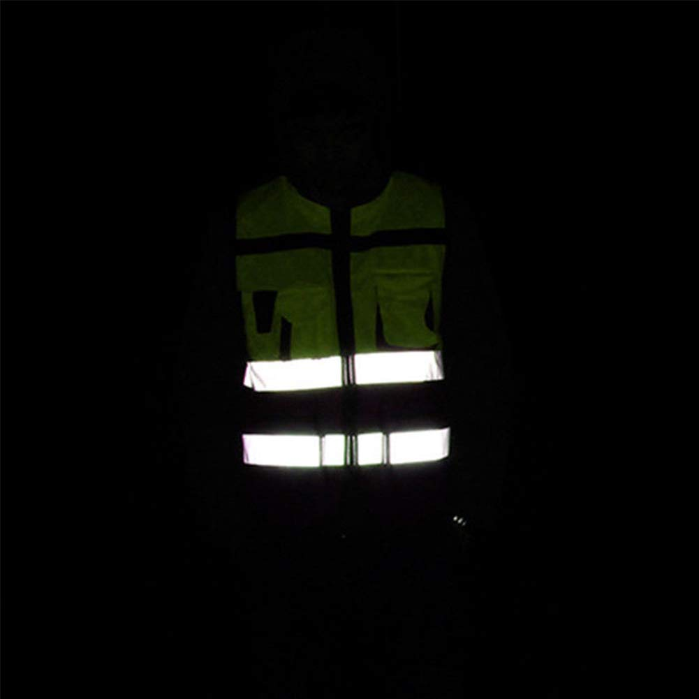 ropa de ciclismo chaleco de seguridad de malla reflectante de visibilidad Ropa de trabajo Gerente ejecutivo Chaleco Chaleco reflectante de seguridad chaleco reflectante para protecci/ón de cruce