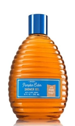 Bath and Body Works Spiced Pumpkin Cider Shower Gel 10 Ounce Honey Comb Bottle