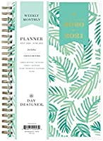 "Day Designer for Blue Sky 2020-2021 Academic Year Weekly & Monthly Planner, Flexible Cover, Twin-Wire Binding, 5"" x 8"",..."