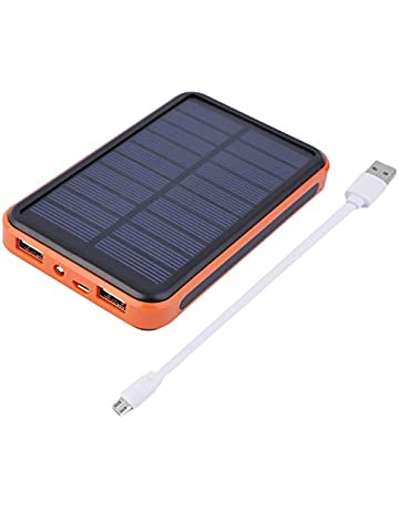 CloverLucky Super Thin Large Capacity Waterproof Portable Solar Power Bank Dual USB Solar Charger For Mobile