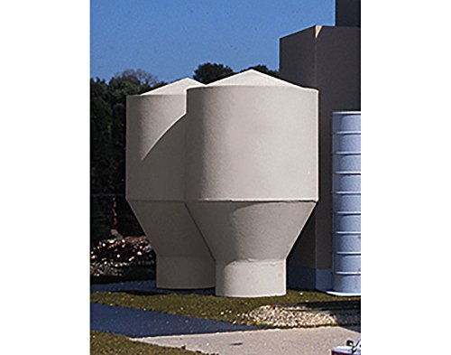 HO Scale Cornerstone Series(R) Superior Paper - Kit (Plastic) -- Pulp Tanks 4-1/8 10.4cm Diameter; 6-3/4 17.1cm Tall by Walthers Cornerstone (Tall Paper Pulp)