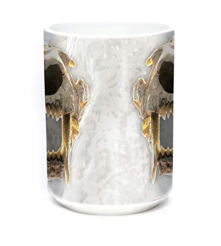 The Mountain 15oz White Ceramic Dinosaur Mug Sabertooth, used for sale  Delivered anywhere in USA