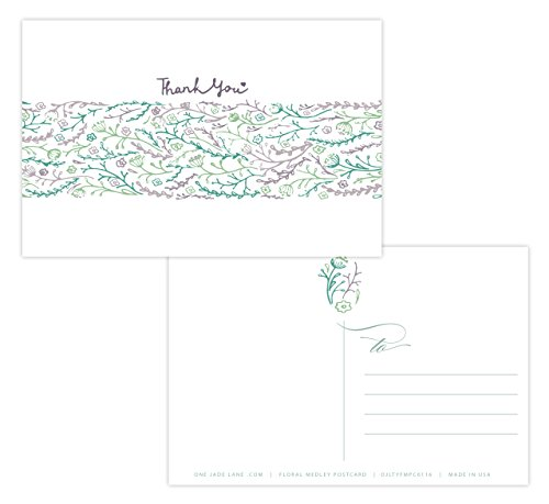 One Jade Lane Floral Medley Thank You Cards Self