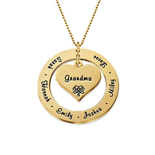 Grandmother / Mother Necklace - Personalized Gold Engraving with Names - Gift for Her by My Name Necklace (Image #4)