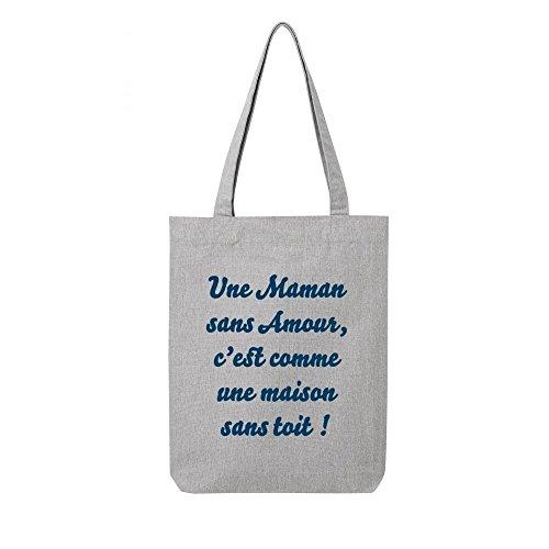 bag sans amour maman recycle toile en Tote gris TpxZUw