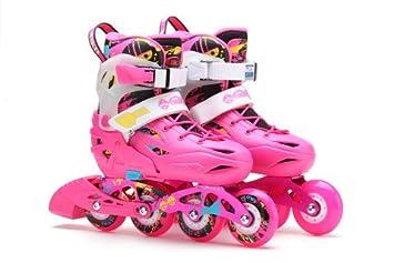 Flying Eagle Skates Europe - Patines en línea freeskate para niños BKB K6 extensible 5 tallas- rosa-38-42: Amazon.es: Deportes y aire libre