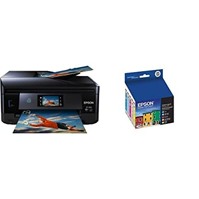 Epson Expression Photo XP-860 Wireless Color Photo Printer with Scanner and Copier & Epson T277920 Epson Claria Photo HD 277 Standard-capacity Color Multi-pack - Cyan, Magenta, Yellow, Light Cyan, Light Magenta (T277920) Ink
