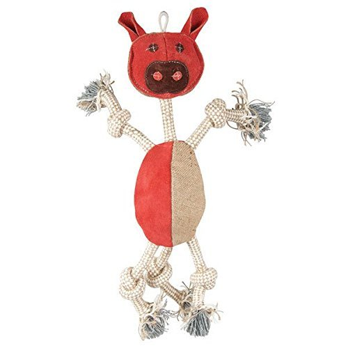 Aussie Naturals Wiggly Family of Animals - Dog Toy Large - Pig ()