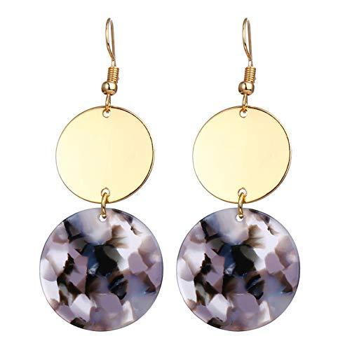 Green Leaf Drop Earrings For Women Girl Gold Color Dangle Earring 2019 Female Statement Geometric Earing Fashion Jewelry,FCS127821 ()