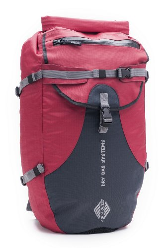 Aqua-Quest 'The Stylin' Waterproof Backpack Dry Bag – 30 L / 1800 cu. in. Red Model, Bags Central