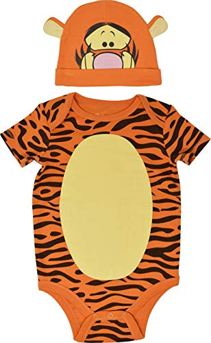 - Disney Tigger Baby Boys Bodysuit with Cap Set Short Sleeve, Orange 6-9 Months