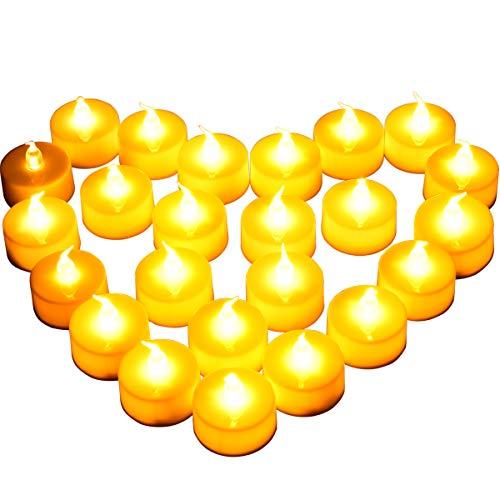 [Nieuwe Stijl] 24 Stuks LED-Kaarsen, Diyife LED Kaarslampjes, Vlamloze Theelichten, Realistische Flikkerende Lamp, voor…