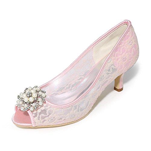 Chaussures Soirée fête Marbrure Disponibles Satin Plus Couleurs Talon Talons Pour De Pink Et L À Mariage En Femmes yc Mariage fARxnR