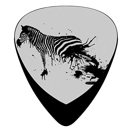 Zebra Ink 351 Shape Medium Classic Celluloid Picks, 12-Pack, For Electric Guitar, Acoustic Guitar, Mandolin, And Bass