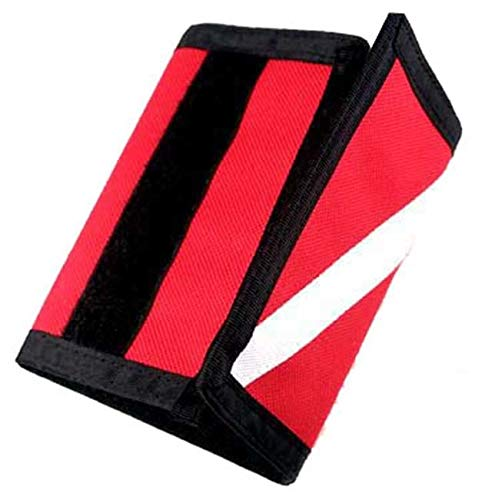 (New Cordura Nylon Dive Flag Scuba Wallet with Diver Down Flag)