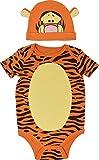 Disney Tigger Baby Boys Bodysuit Hat Set Short Sleeve, Orange 0-3 Months