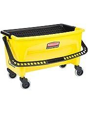 Rubbermaid Commercial HYGEN Q90088YW HYGEN Press Wring Bucket for Microfiber Flat Mops, Yellow