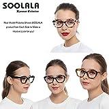 SOOLALA Female 4-Pair Mixed Colors Cateye Frame