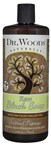 Dr  Woods Raw Moisturizing Black Coconut Papaya Soap With Organic Shea Butter  32 Ounce