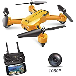 The Wasp SS40 Drone with 1080P 120° FPV HD Camera/Video with G-Sensor Technology, Voice Command, Preset Flight Path and Hover Technology