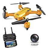 ScharkSpark Drone, SS40 The Wasp Drone-1080P 120° FPV HD Camera/Video, RC Toy Quadcopter Equipped with G-Sensor Technology, Voice Command, Hover Technology,3 Speed Mode, 360 flip