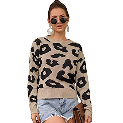 SweatyRocks Women's Drop Shoulder Mock Neck Pullover Sweater Long Sleeve Basic Crop Sweaters at Women's Clothing store
