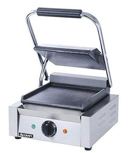 Adcraft Countertop Sandwich Grill with Flat Plates, 12 x 14.5 x 7.5 inch -- 1 each.